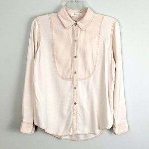Vince Camuto Long Sleeve Bib Button Down Shirt